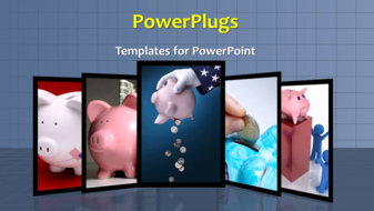 PowerPoint Template - Money saving background